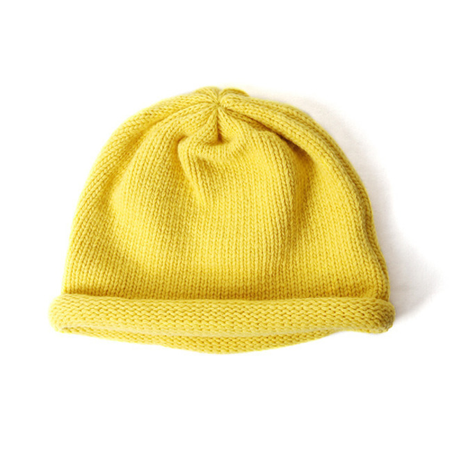 "Knit Roll Beanie ""YELLOW"""