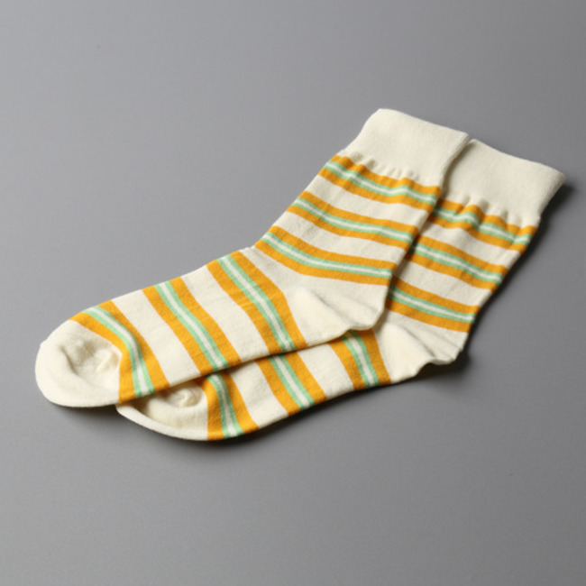 "Old Stripe Socks ""IVORY"""