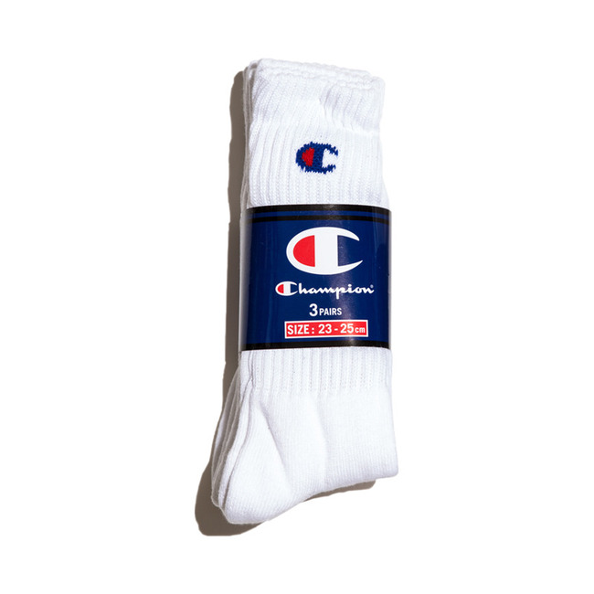 "3-Pair Set Full-Length Socks ""WHITE"" (CMSCH001)"