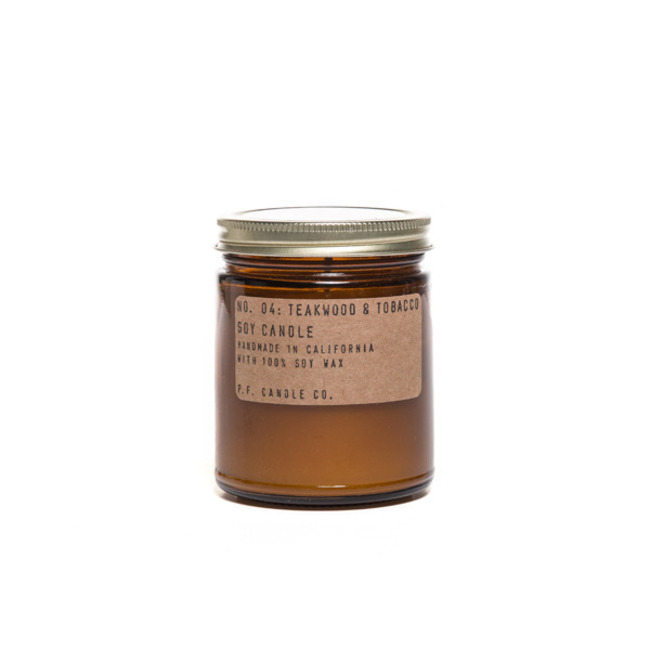 "7.2 oz Soy Candle ""TEAKWOOD & TOBACCO"""