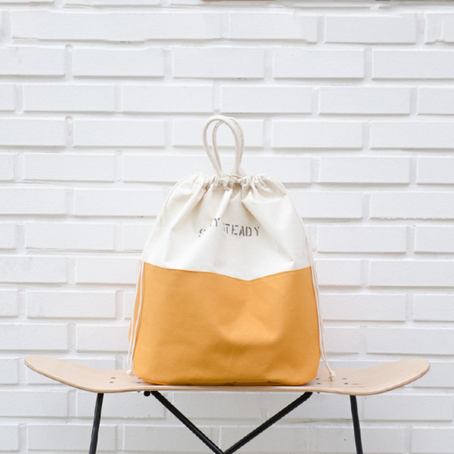 "Laundry Tote Bag (Canvas) ""YELLOW"""