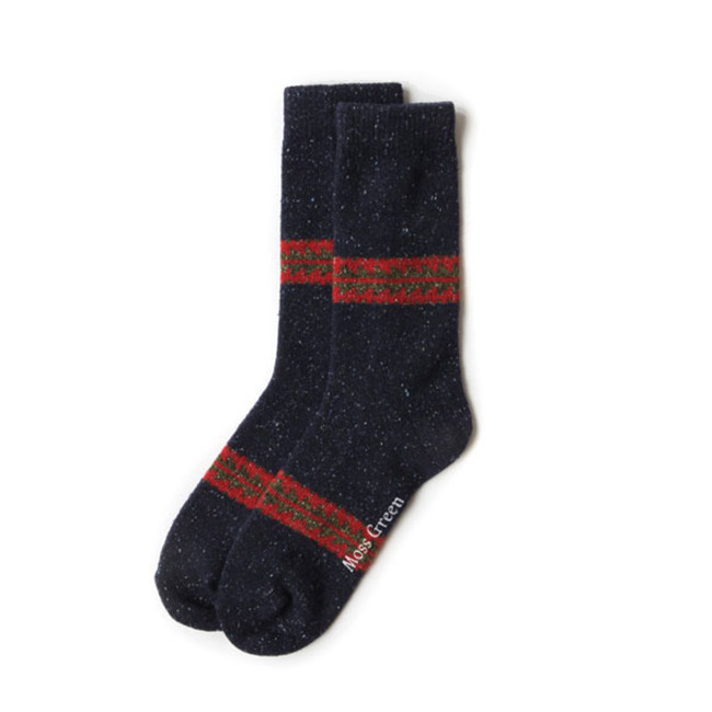 "Aztec Socks ""NAVY"""