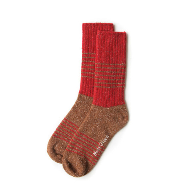 "Block Stripe Socks ""RED"""