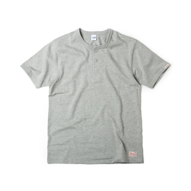 "Prestons Henley Neck ""GRAY"""