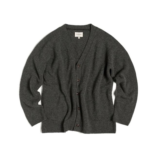 "R-POCKET CARDIGAN ""CHARCOALl"""