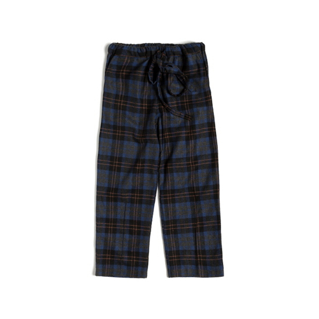 "Check Wool S.C Pants ""BLUE"""