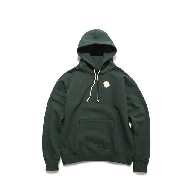 "Hooded Nap Sweatshirt ""FOREST GREEN"""