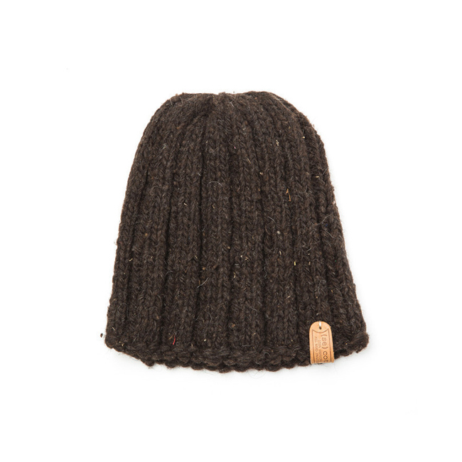 "Short Simple Hat ""BROWN"""