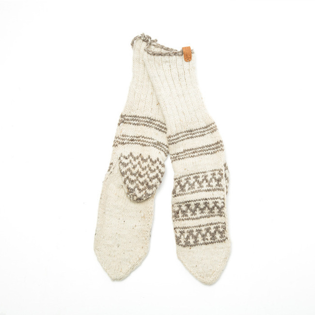 "Man Socks ""IVORY"""