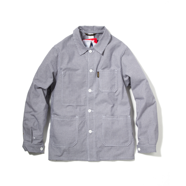 Houndstooth Cotton Drill Work Jacket