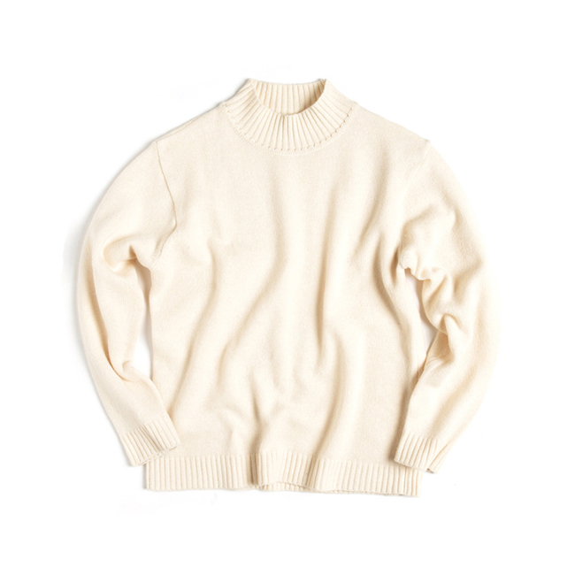 "Half Turtle Neck Sweater ""IVORY"""