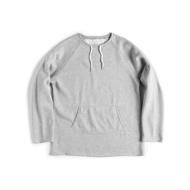 "Cut Shape Crew Sweat Shirt ""GRAY"""