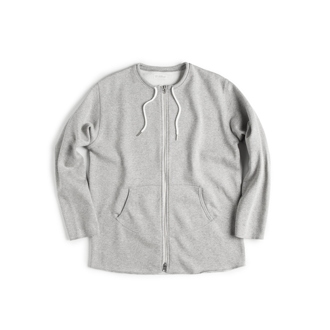 "Cut Shape Zip-up Sweatshirt ""GRAY"""