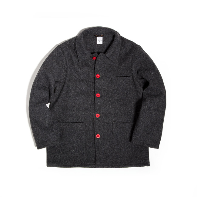 "Burel Wool Work Jacket ""GRIS(GRAY)"""