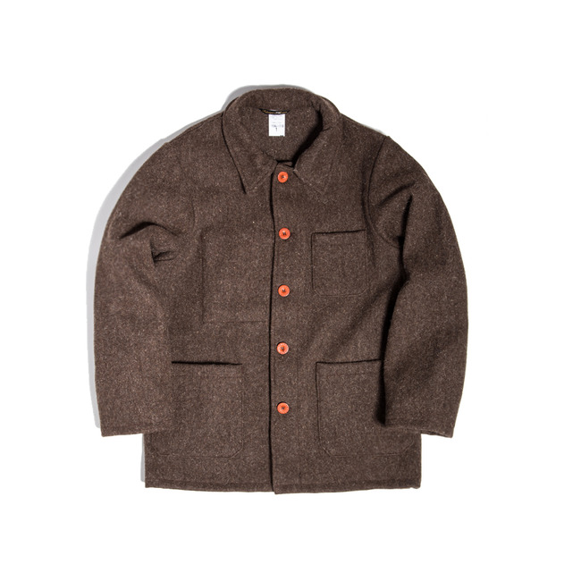 "Burel Wool Work Jacket ""MARRON(BROWN)"""