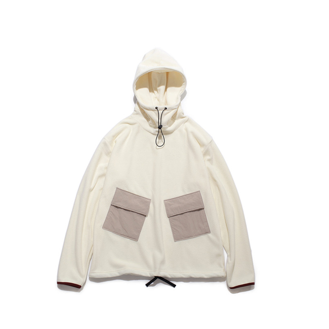 "Fleece Anorak ""OFF WHITE"""