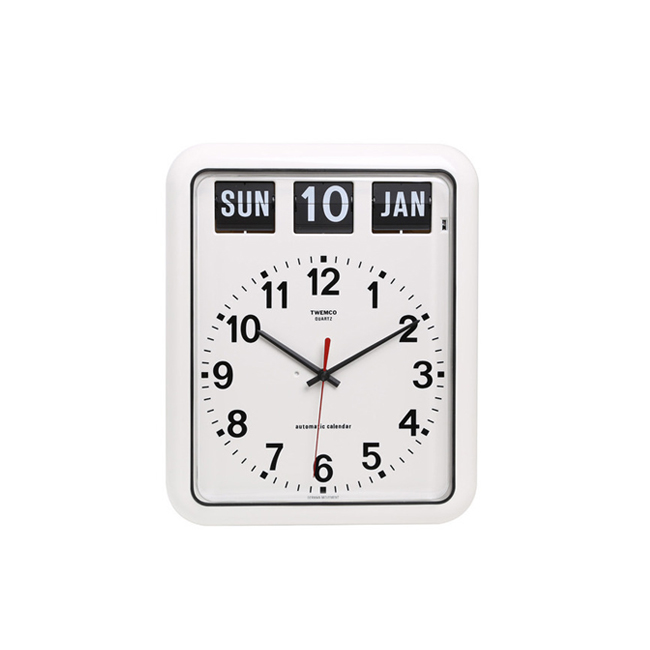 "BQ-12A Analog Clock w/ Date ""WHITE"""