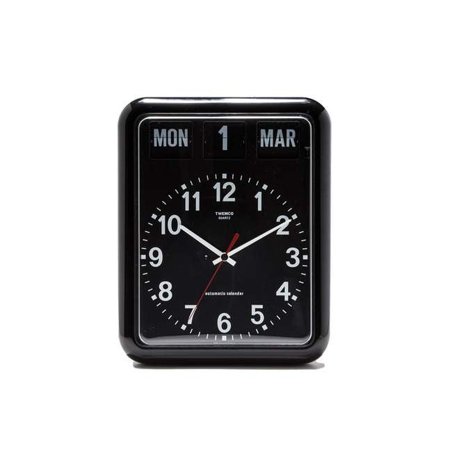 "BQ-12A Analog Clock w/ Date ""BLACK""Re-Stock"