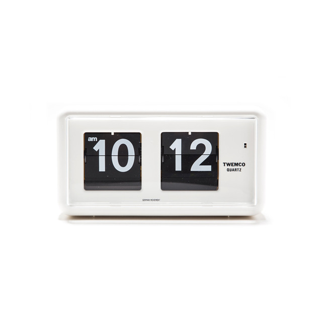 "QT-30 Flip Clock ""WHITE"""