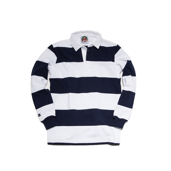 "12oz Classic Rugby Jerseys ""WHITE/NAVY"" Japan Fit"