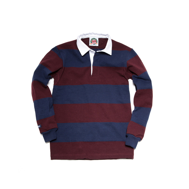 "12oz Classic Rugby Jerseys ""HARVARD/NAVY""Japan Fit"