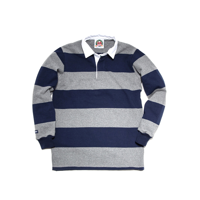 "12oz Classic Rugby Jerseys ""OXFORD/NAVY""Japan Fit"