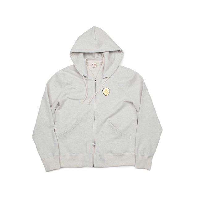 "Modified Sweat Zip Parka ""OTMEAL MELANGE"""