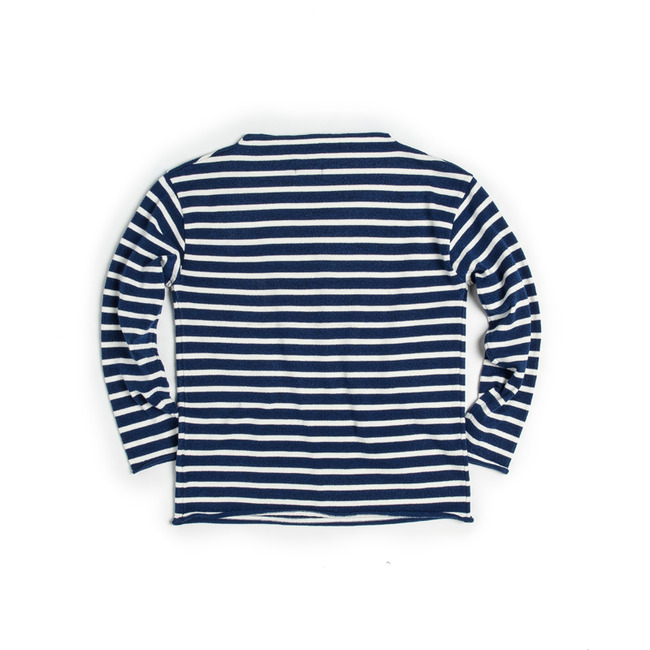 "Stripe Wide-Neck Knit ""BLUE"" ONLINE ONLY"