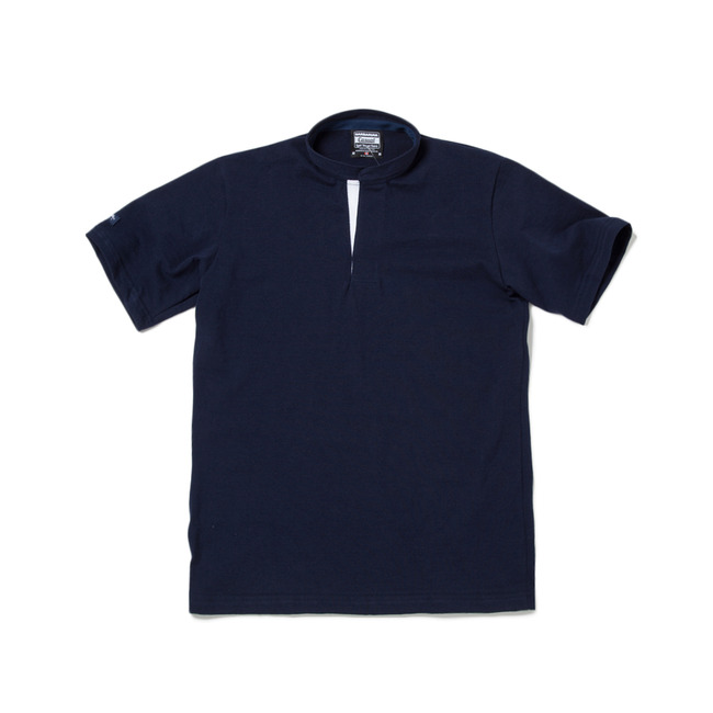 "8oz Lightweight Henley Neck ""NAVY"""