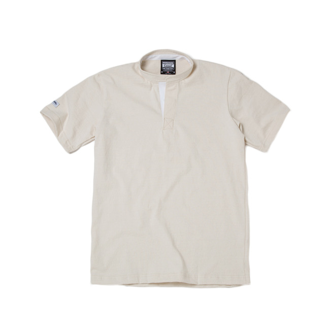 "8oz Lightweight Henley Neck ""IVORY"""