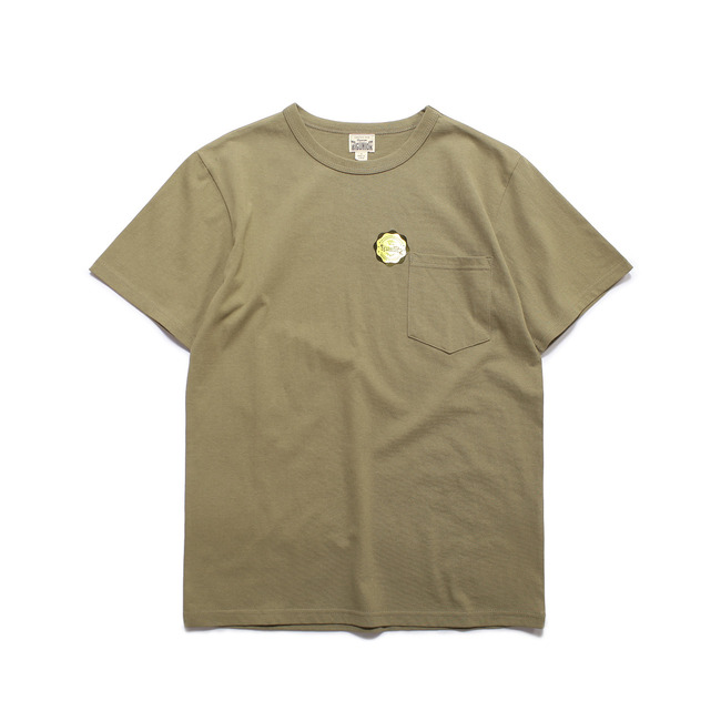 "Crew-neck S/S Shirt ""Olive""  FINAL SALE"