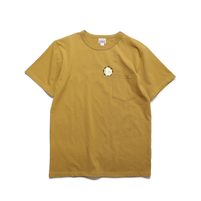 Crew-neck S/S Shirt Mustard  FINAL SALE