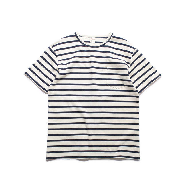 Stripe 1/2 T-Shirt Navy  FINAL SALE