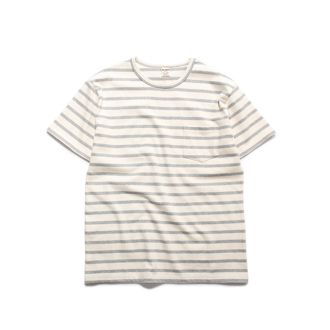 Stripe 1/2 T-Shirt Grey  FINAL SALE