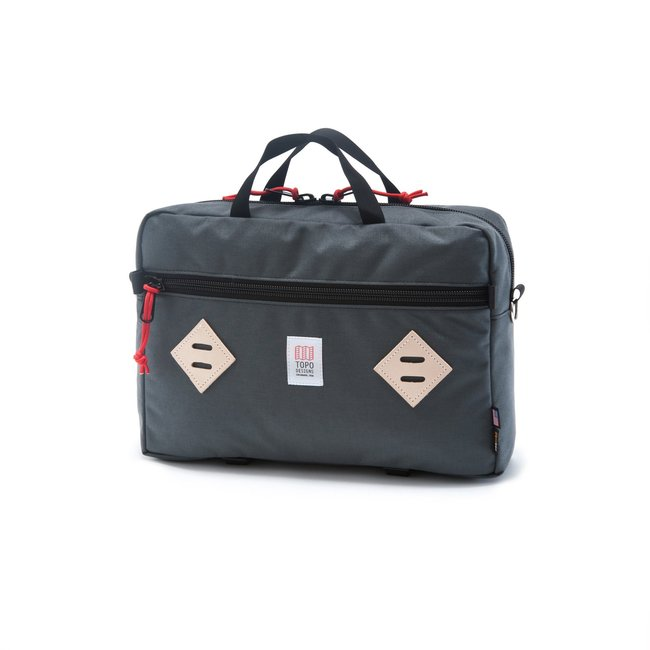 "Mountain Briefcase ""BLACK / CHARCOAL"""