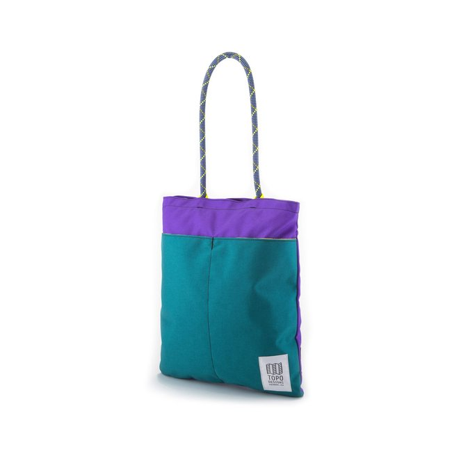"Rope Tote Pack ""TURQUOISE / VIOLET"""