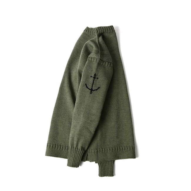 Guernsey Sweater - Olive