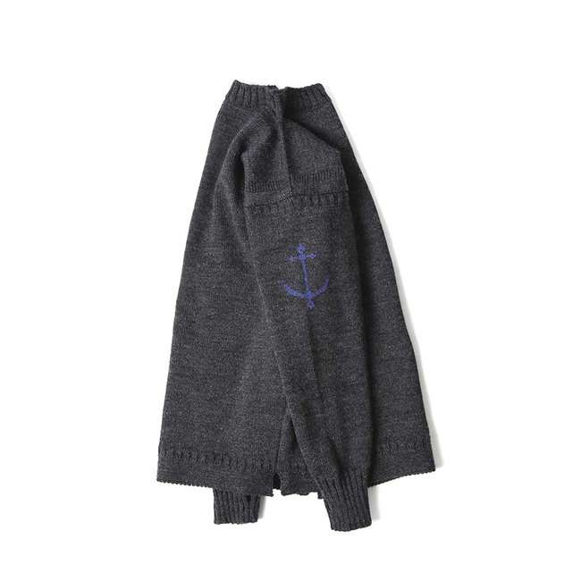 Guernsey Sweater - Charcoal