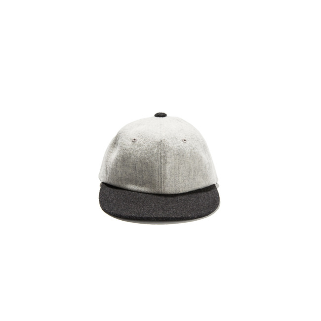 "Wool Ball Cap ""IVORY / CHACOAL"""