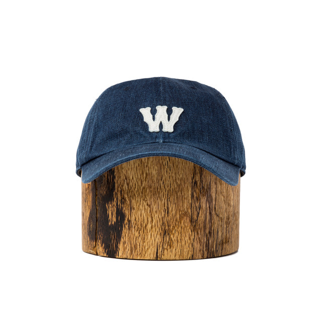 Wash Denim Ball Cap 'W'