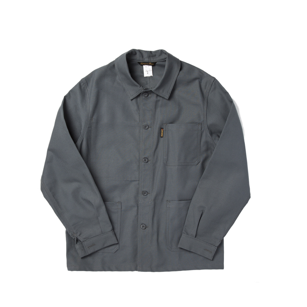 "Cotton Drill Work Jacket ""GREY"""