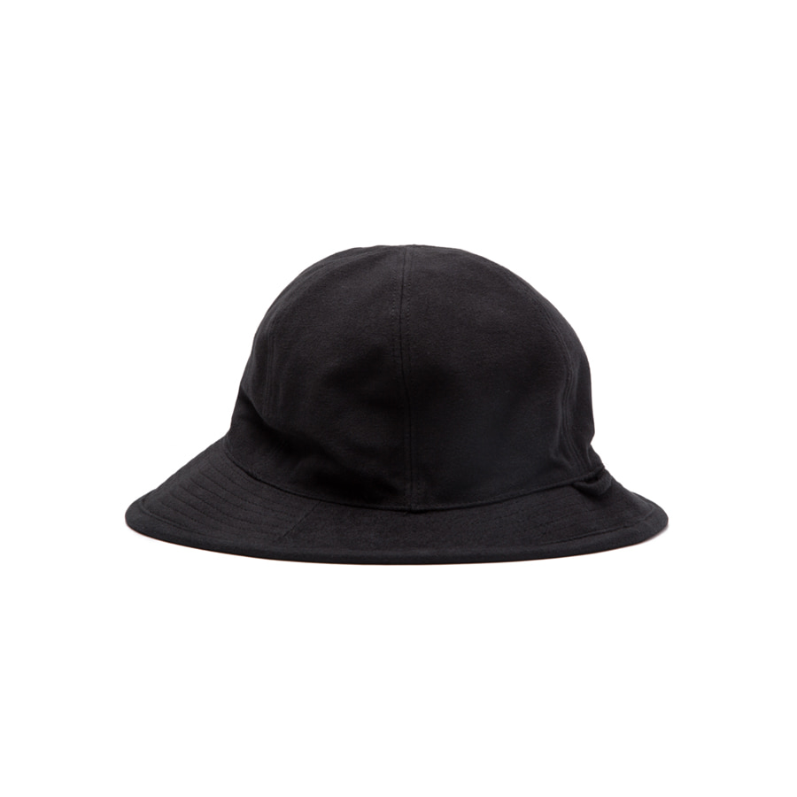 COTTON SUEDE FISHER HAT BLACK