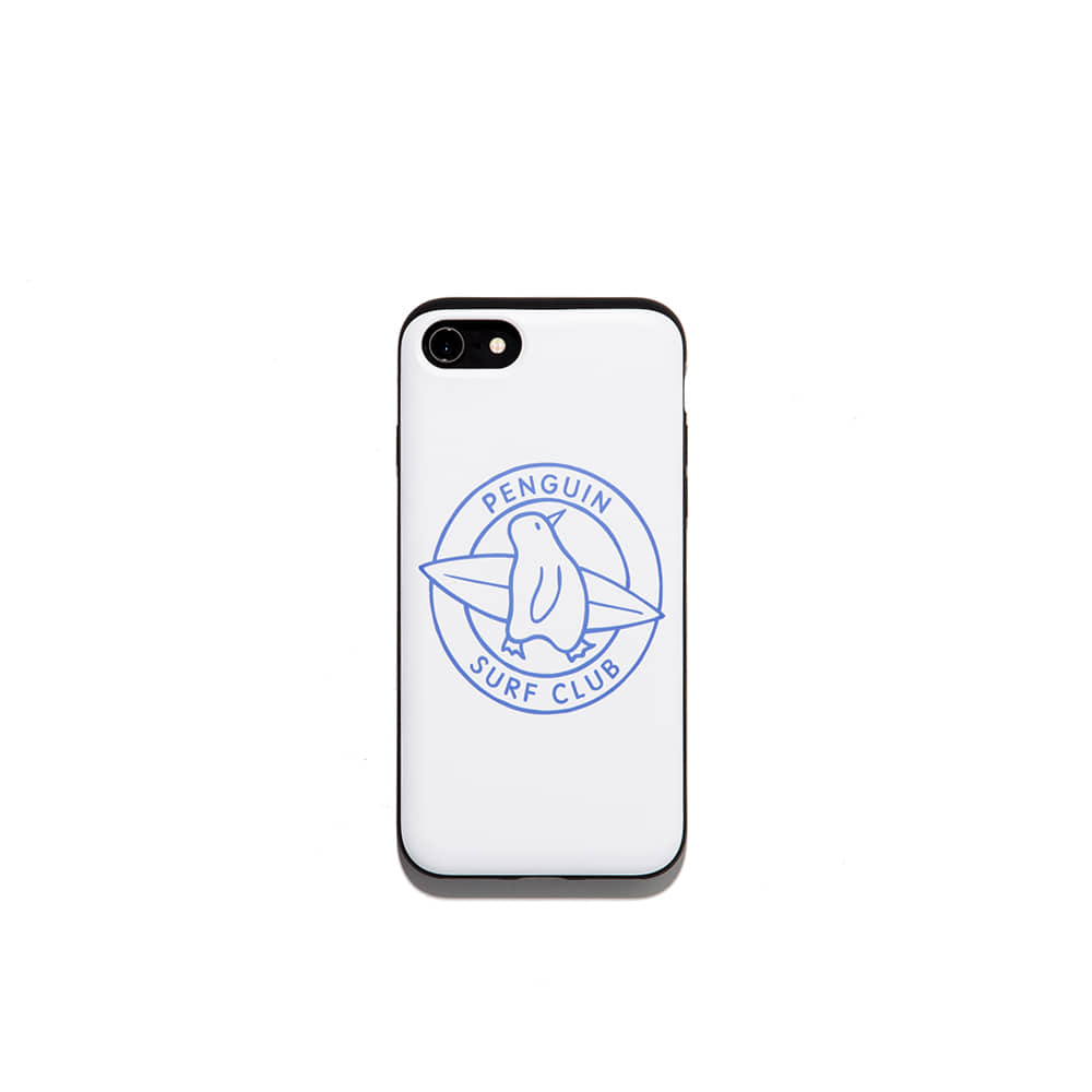 Penguin surf club  Iphone case 7/8 7/8+ X 가능 & 카드1장 수납