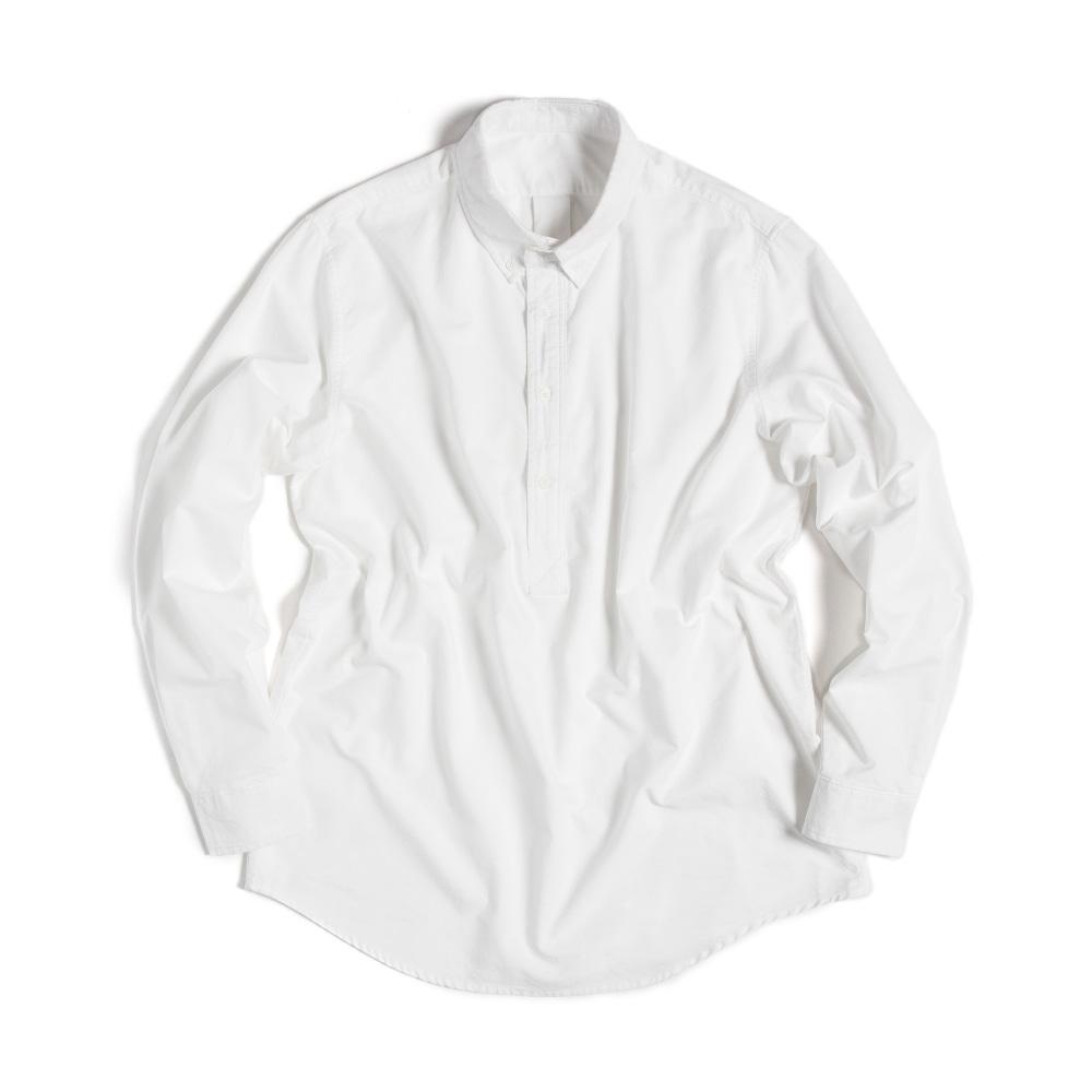 BUTTON DOWN SHIRTS(PULL-OVER)  WHITE