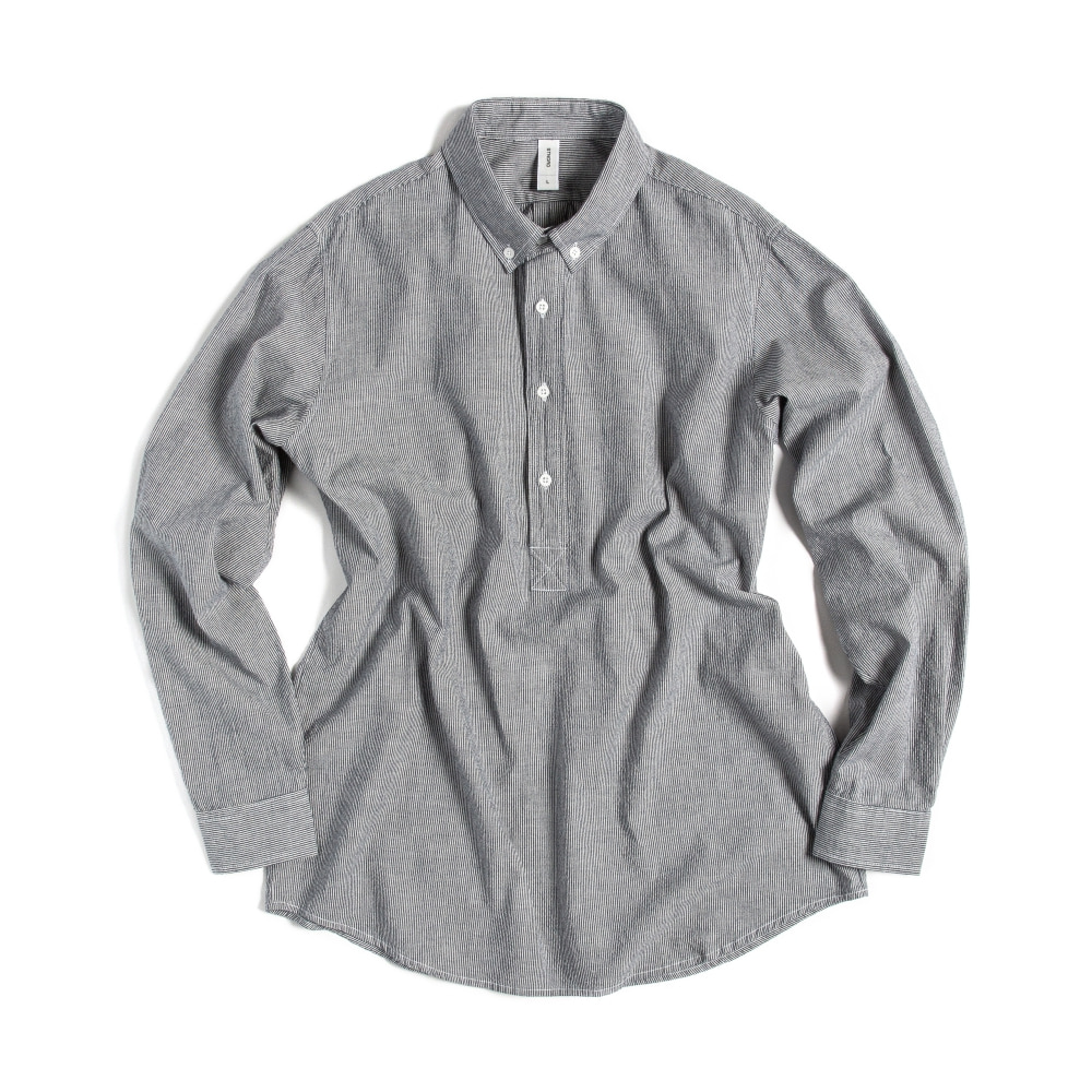 BUTTON DOWN SHIRTS(PULL-OVER) STRIPE NAVY(시어서커)