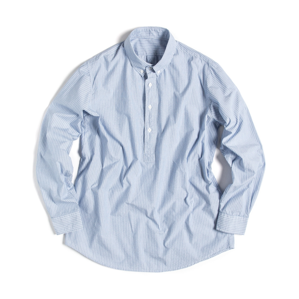 BUTTON DOWN SHIRTS(PULL-OVER) MULTI STRIPE BLUE