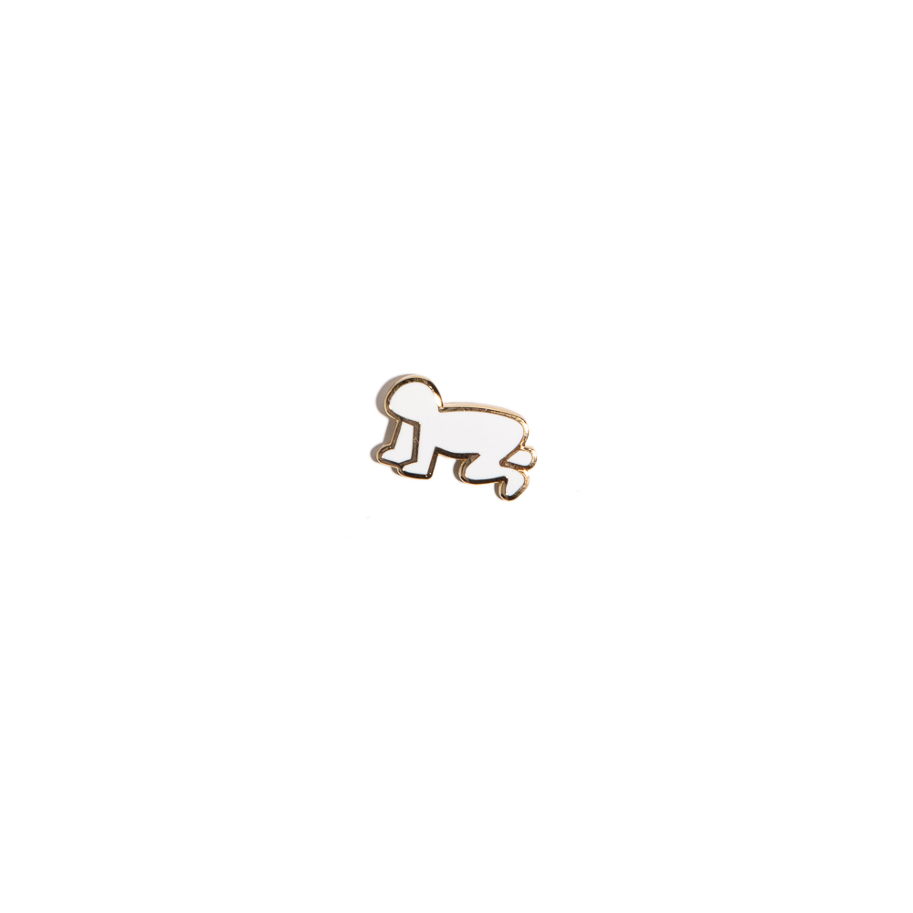 """KEITH HARING - BARKING DOG AND RADIANT BABY BAR PIN ""케이스해링 콜라보 핀"