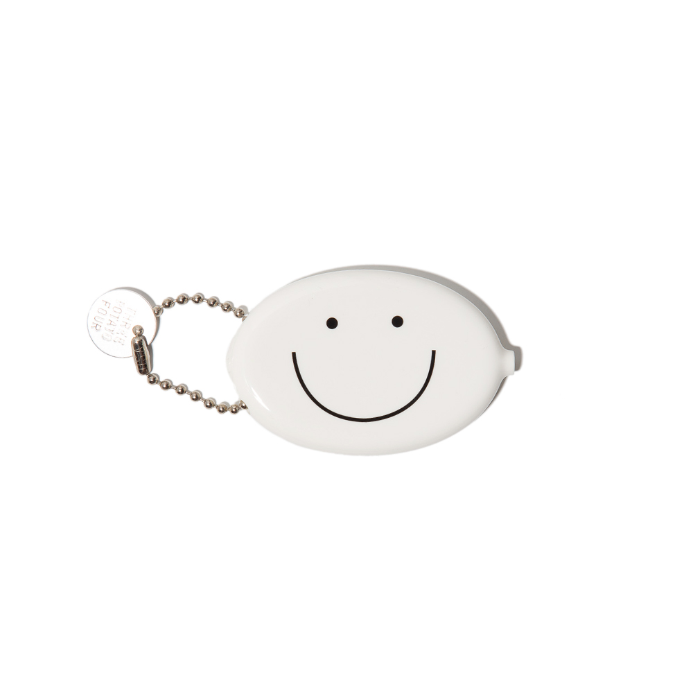 Coin Pouch - Smiley Face (White)고무로 만들어진 동전지갑