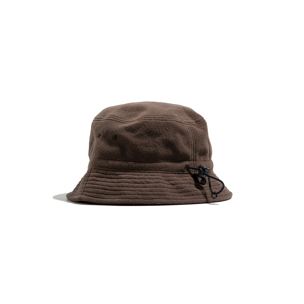 "Fleece String Bucket Hat ""BROWN""따뜻한 플리스 버킷 18FW"