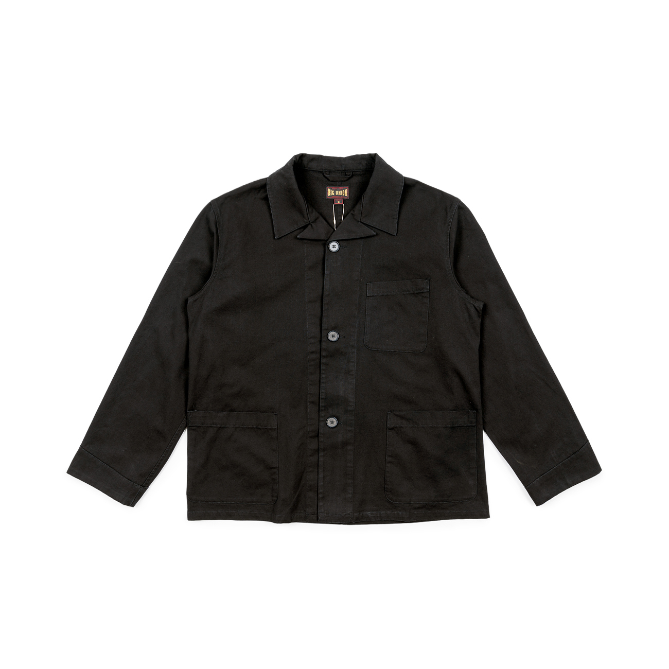 "French Open Collar Jacket ""Black"""
